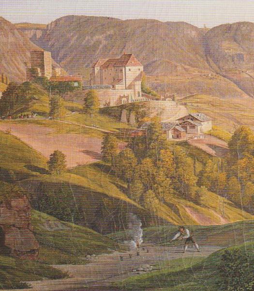 Böllerschießen beim Besuch von Kaiser Fredinand auf Schloss Tirol
