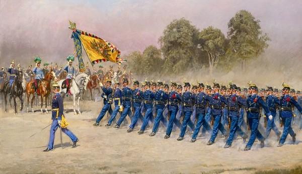 quadro-di-a-pock-del-1896-che-raffigura-il-4c2ba-reggimento-di-fanteria-22ordine-dei-cavalieri-teutonici22