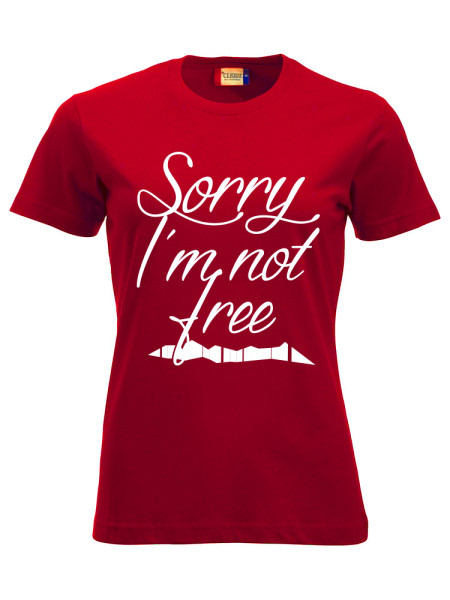 T-shirt-ROT-Sorry-imnot-free