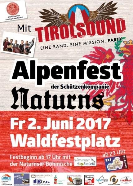 Plakat Alpenfest 2017