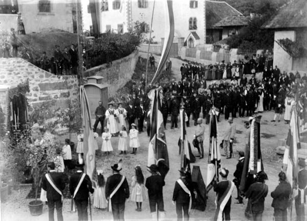 Feldmesse zur Protektoratsübernahme des Schießstandes durch Erzherzog Franz Ferdinand am 20.09.1908