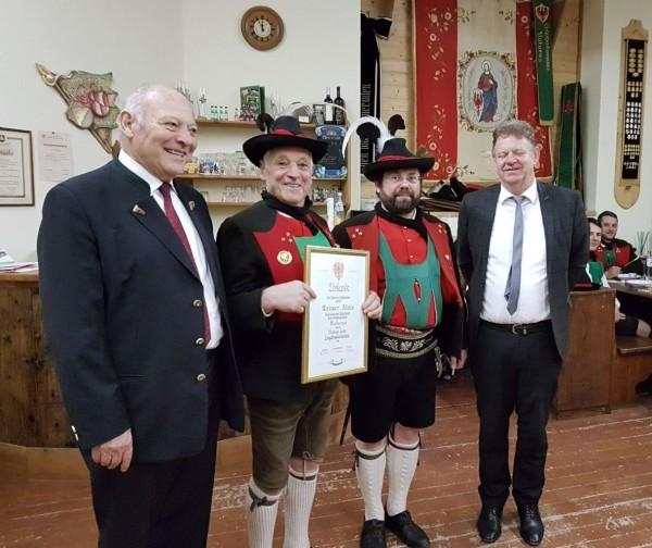 2018_Naturns_Andreas Hofer Verleihung Laimer Alois 60 Jahre