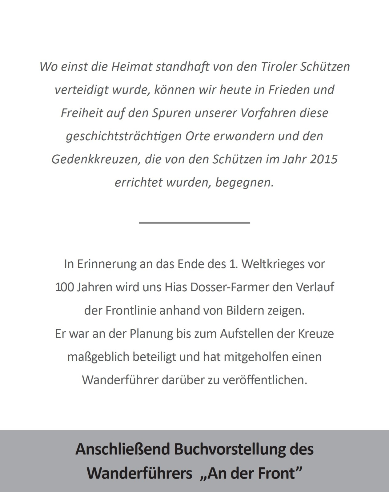 2018_Schenna_Vortrag Gedenkkreuze Südfront 2