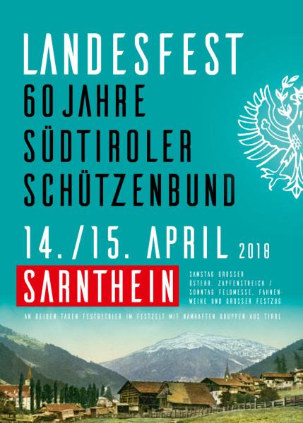 Einladung Landesfest 60 Jahre SSB in Sarnthein 2018
