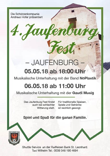 flyer jaufenburgfest 2018