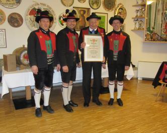 2015_Lana_Jahreshauptversammlung Ehrung Josef Oberpertinger