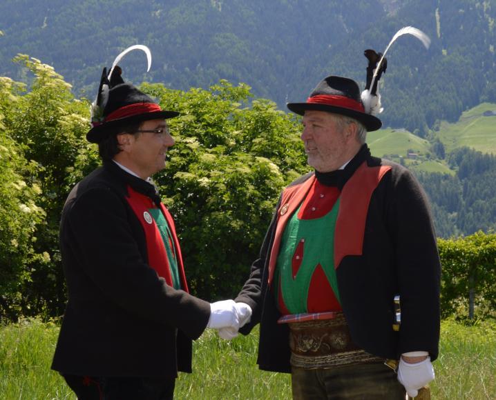 2015_Bezirksleitung_Major Stellvertreter_Andreas Leiter Reber Stefan Gutweniger