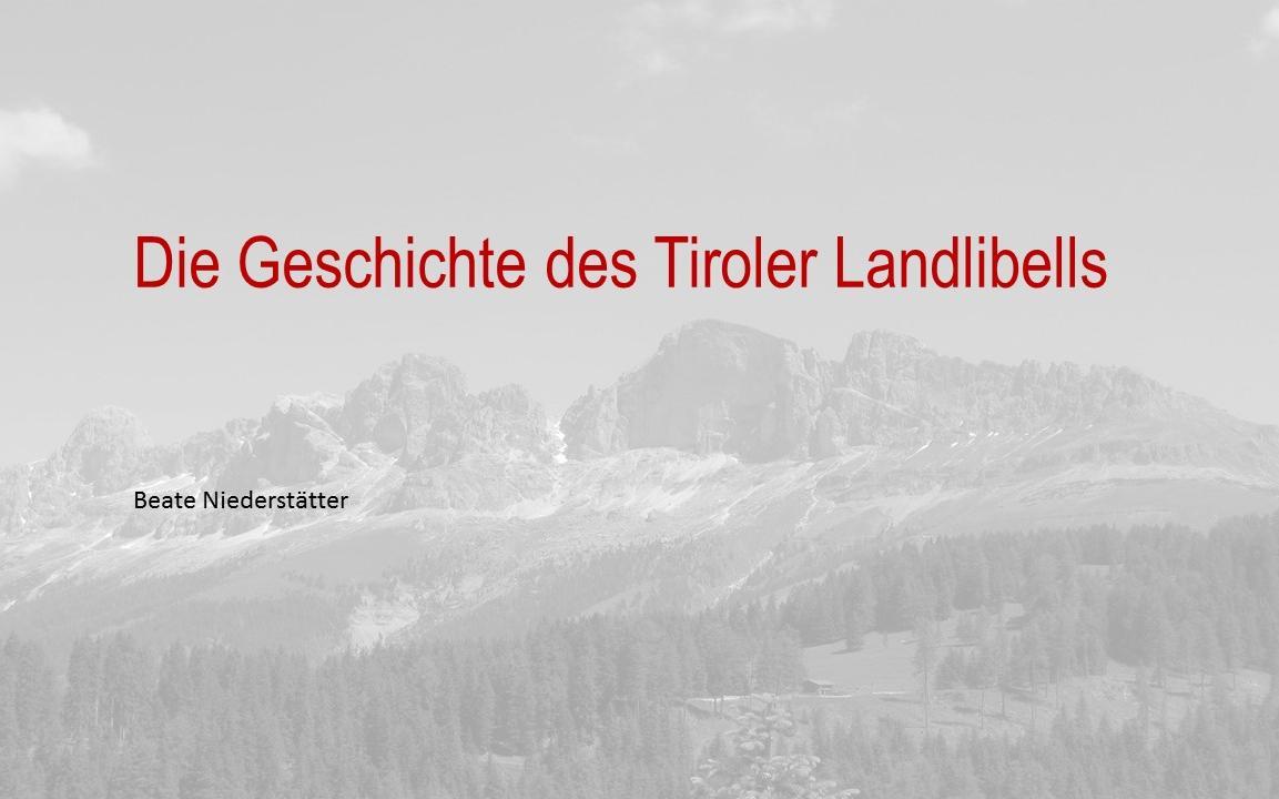 Landlibell 1511 Folie1 Beate Niederstätter