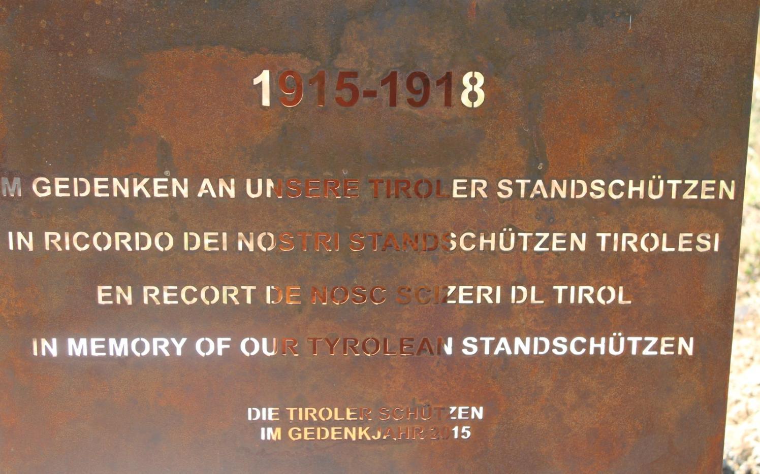 2015_Algund Malga Colo Süd Front Welsch Tirol_Gedenkkreuz Standschützen (3)
