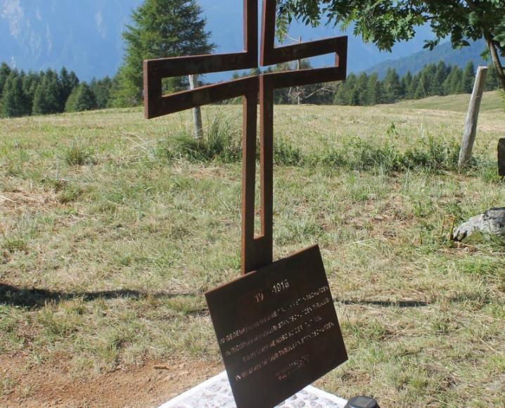 2015_Algund Malga Colo Süd Front Welsch Tirol_Gedenkkreuz Standschützen (2)