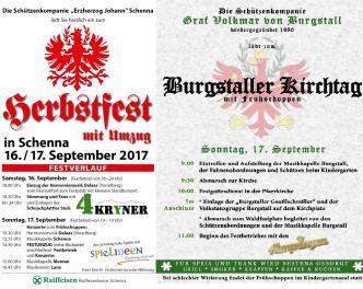 2017_Einladung Herbstfest Schenna Kirchtag Burgstall